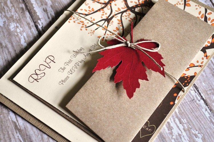 Herbst Einladungen   Eine Traumhafte Hochzeit Gestalten