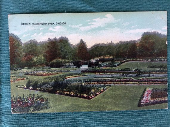 Vintage Postcards From Chicago Il Garfield Park Lincoln Park