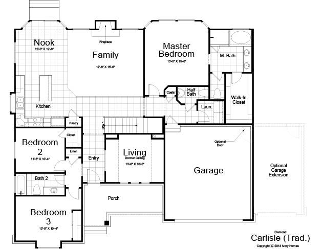 Carlisle Traditional Home Design For New Homes In Utah Craftsman Floor Plans House Floor Plans Model Homes