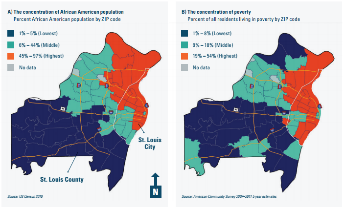 Map The Racial And Economic Divide In The St Louis Area - Us map st louis