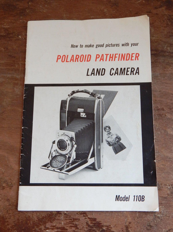 Vintage Manual Polaroid Pathfinder Land Camera Model 110B Collectible Camera Ephemera 50's Mid Century Photography How To Booklet by OffbeatAvenue on Etsy