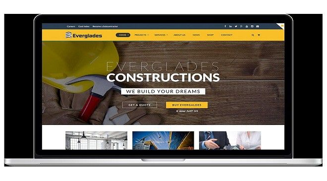 Free Construction Company WordPress Template & Web Themes at $10