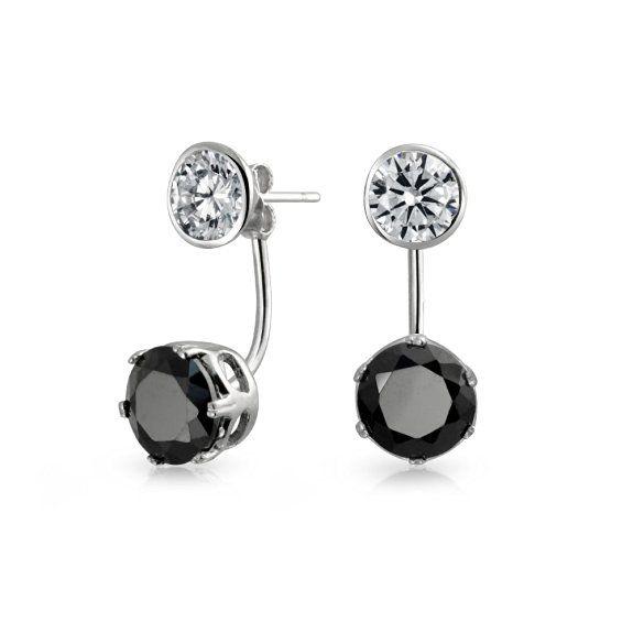 Bling Jewelry Modern Ear Jackets