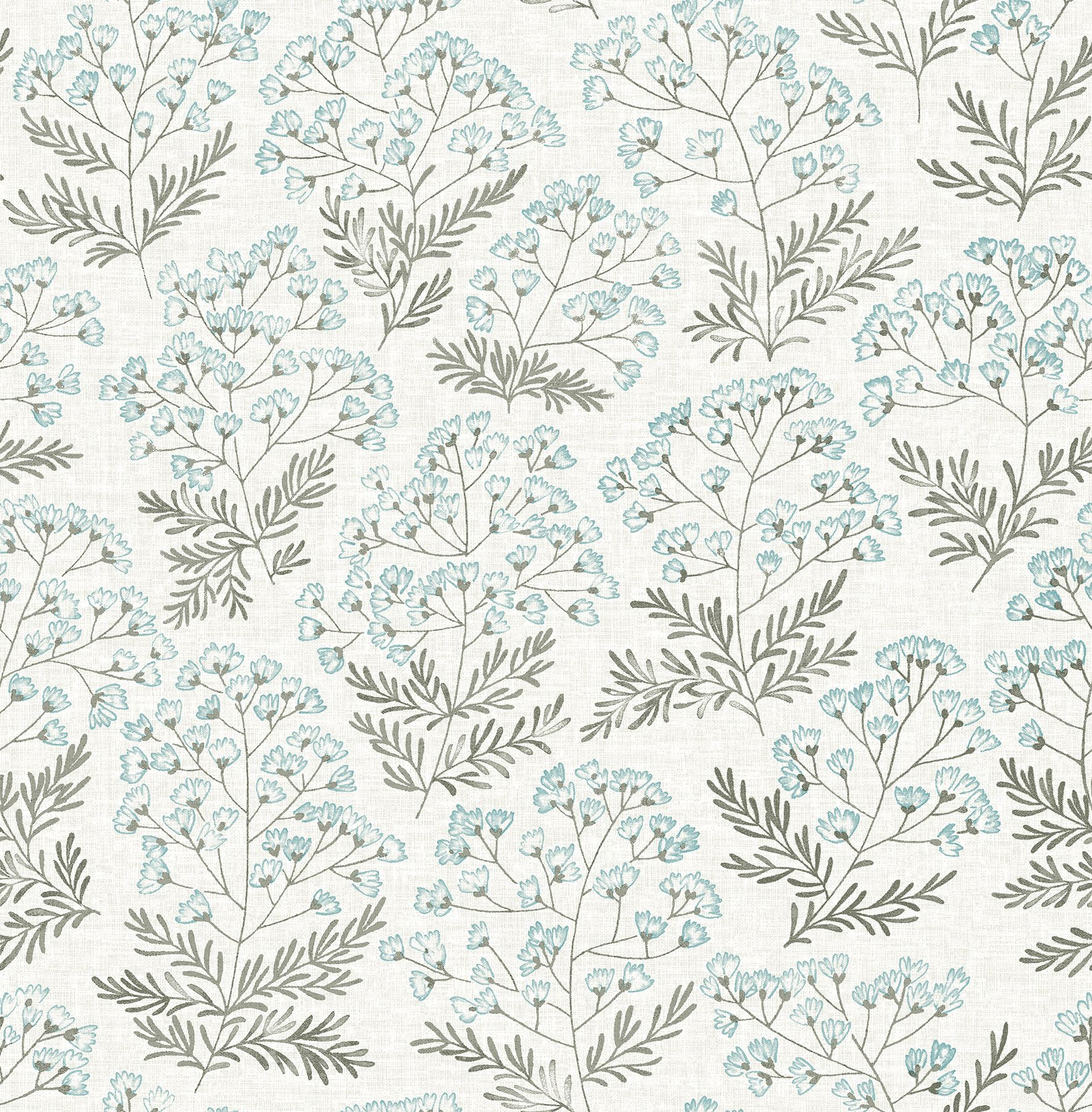 Floret Blue Floral Wallpaper Blue Floral Wallpaper Floral Wallpaper Wallpaper Samples
