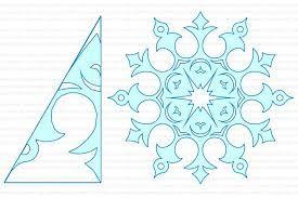 Картинки по запросу как сделать снежинки из бумаги схемы ...