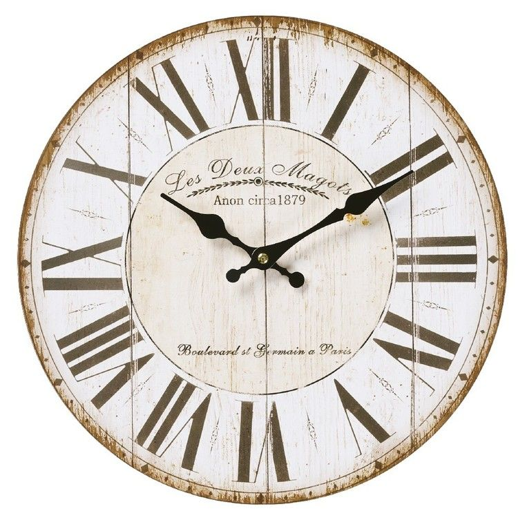 Cooper Co Mdf Clocks Design 10 White 34 Cm 10 Wall Clock Wall Clock Classic Big Wall Clocks