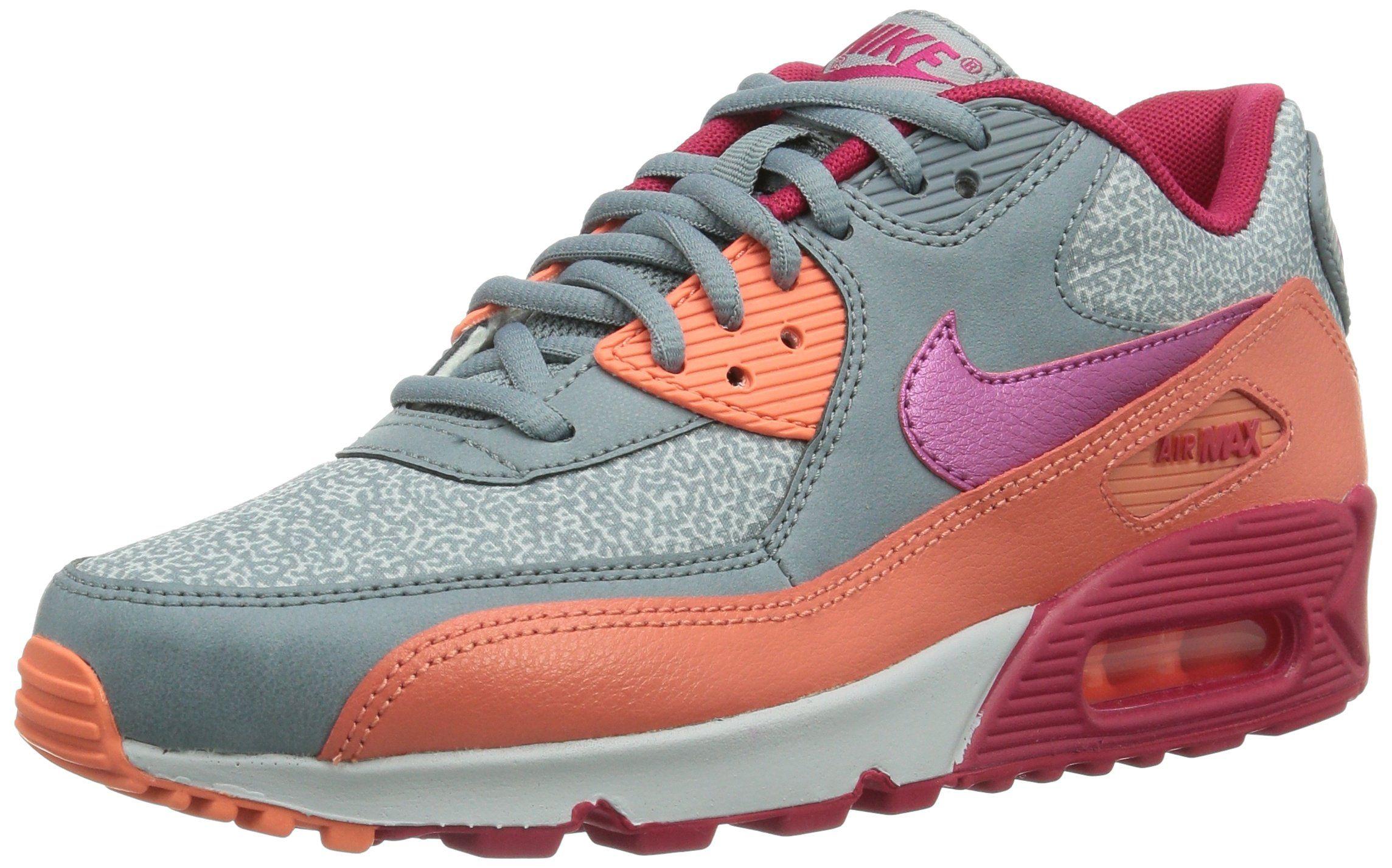 best cheap 0ebbd c38ed Nike Women s Air Max 90 Mgnt Gry Fchs Frc Brght Mng Pr Running Shoe 6 Women  US