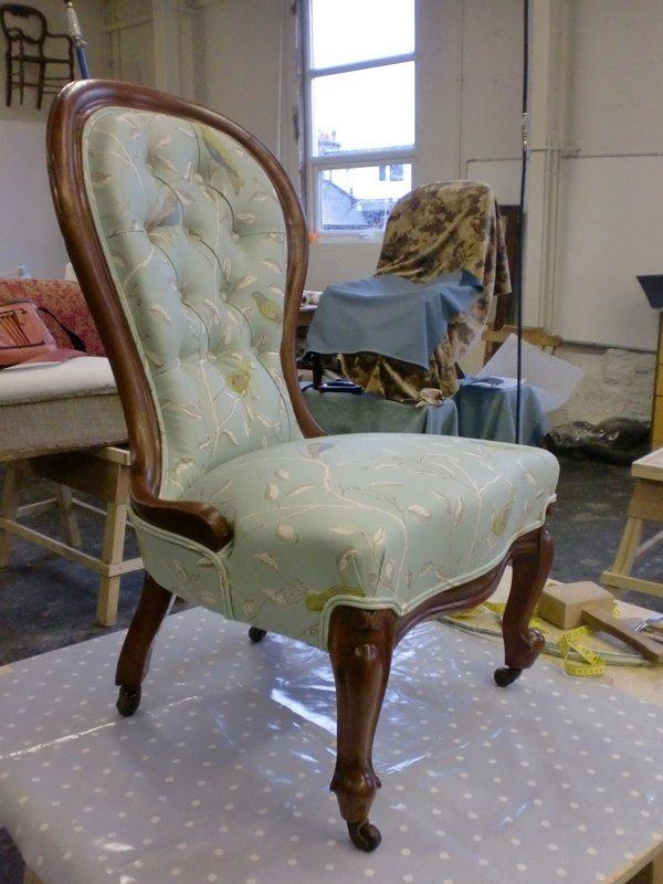 Beautifully Restored And Reupholstered Victorian Spoon