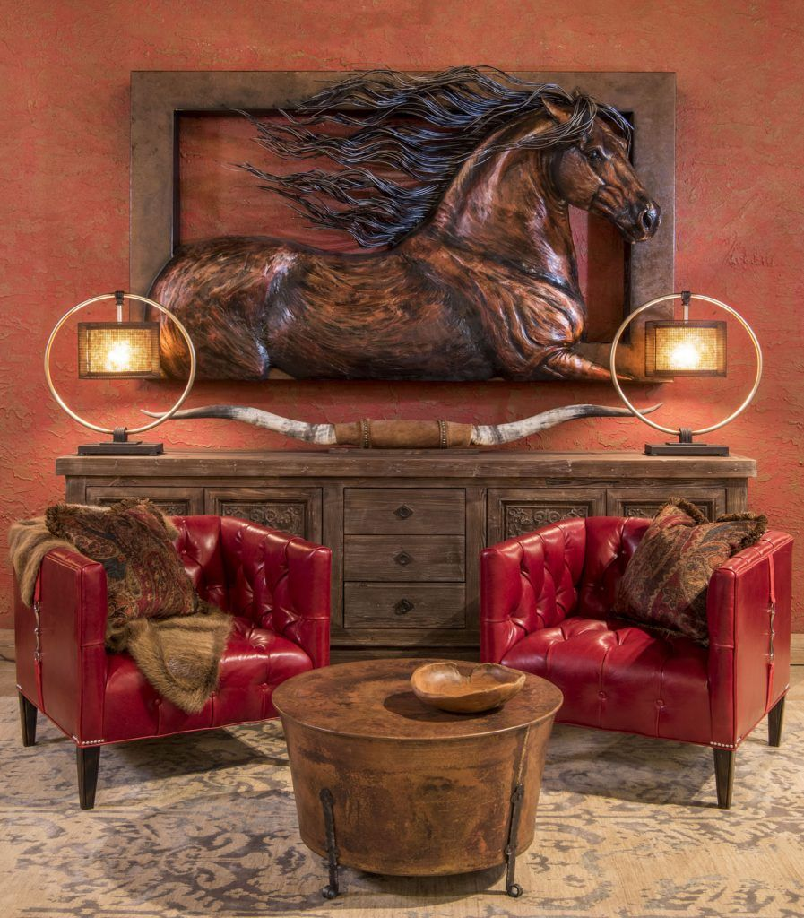 Luxurious Western Home Decor Adobe Interiors Fort Worth Rustic Furniture Texas