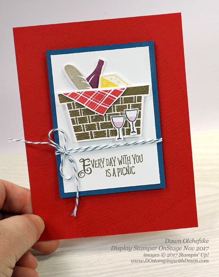 Stampin' Up! Picnic with You cards created and shared by Dawn Olchefske #dostamping #stampinup #handmade #cardmaking #stamping #diy #rubberstamping #2018occasions #love #OnStage2017