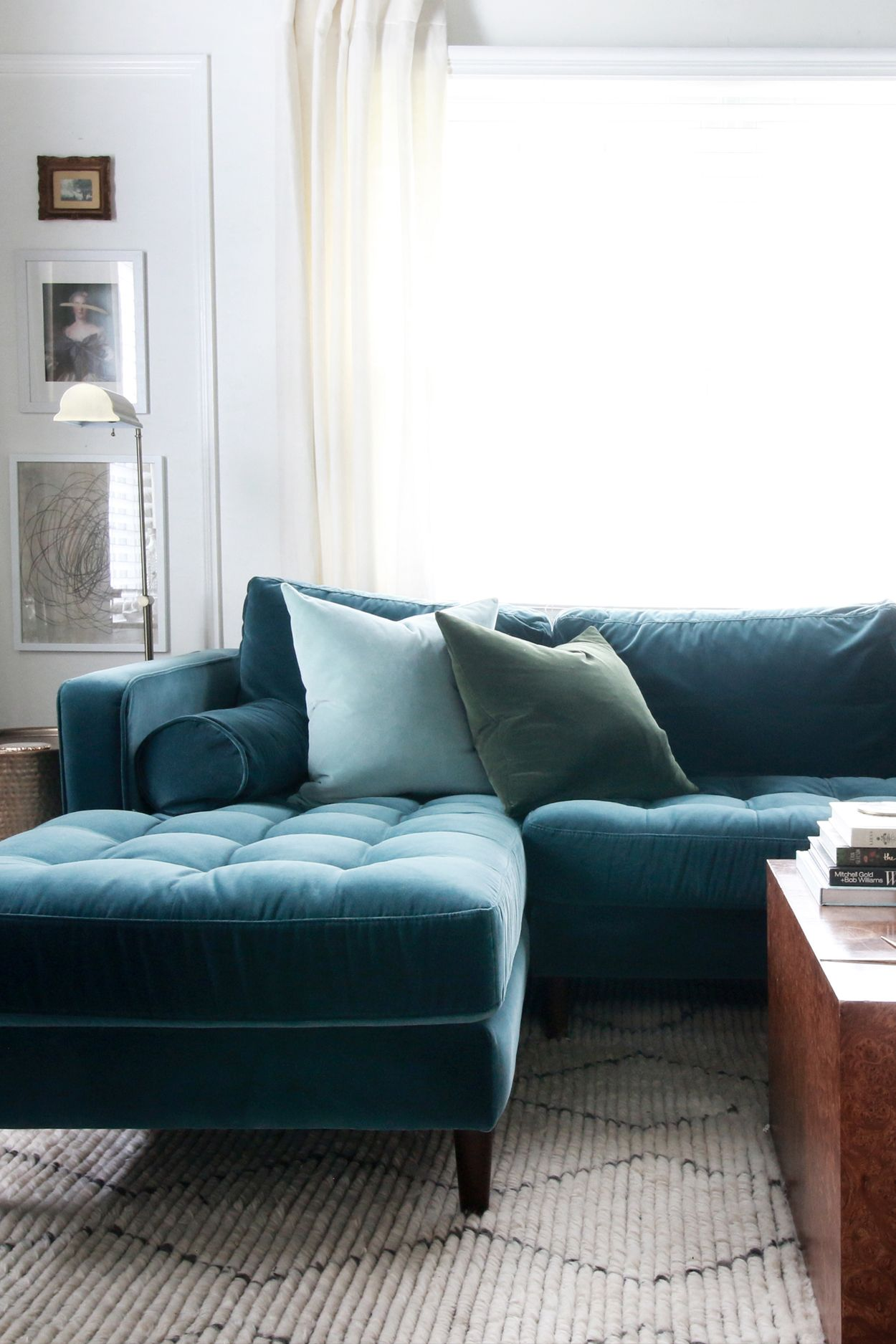 Sven Pacific Blue Left Sectional Sofa Modern Sofa Sectional Sectional Sofa Sofa