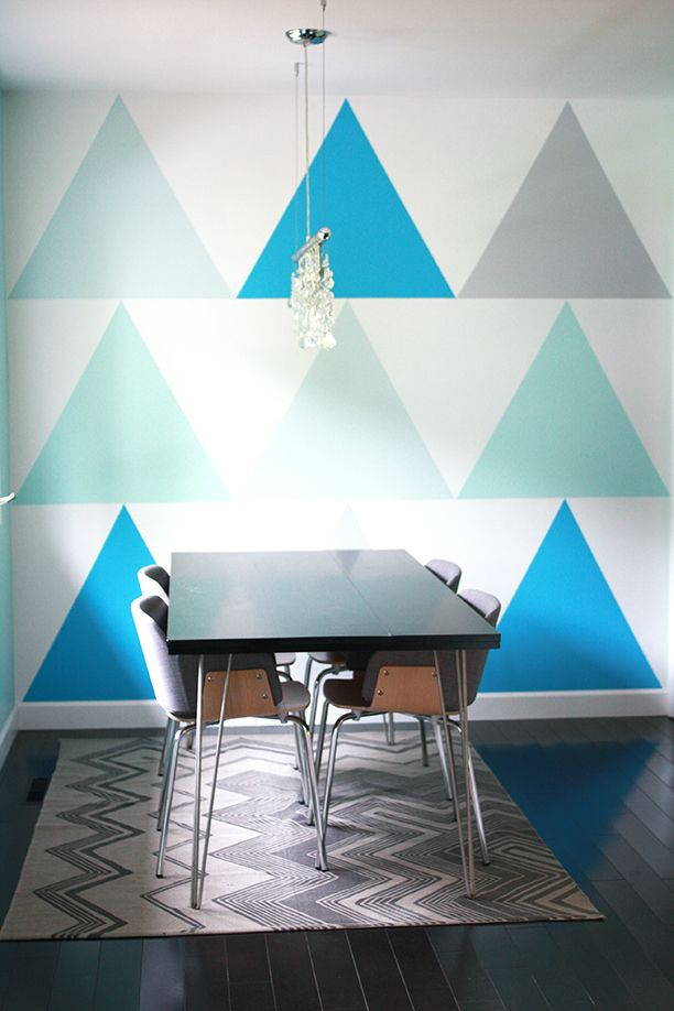 How To Paint A Triangle Statement Wall Gummergal