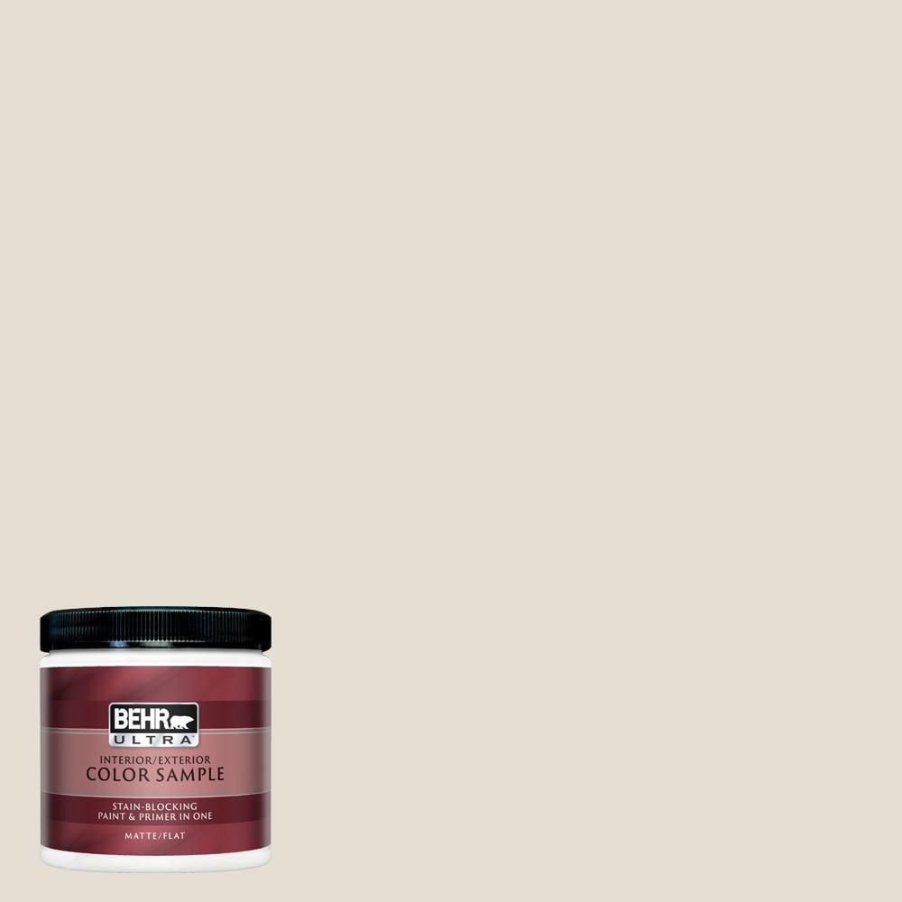 Behr Ultra 8 Oz Ppu7 11 Cotton Knit Matte Interior Exterior Paint And Primer In One Sample Ul20016 The Home Depot In 2020 Behr Exterior Paint Behr Ultra
