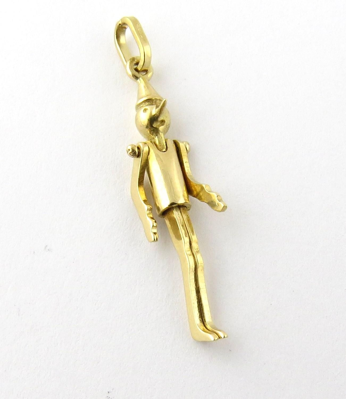 Vintage 18k Gold Pinocchio 3 D Movable Charm Pendant 18k Gold Charm Pendant Gold