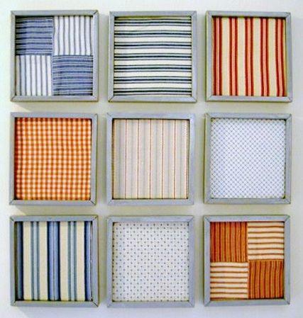 Visto aquí: http://knockoffdecor.com/drying-rack-patchwork-wall-art/