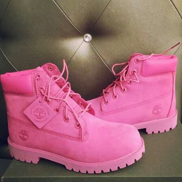 newest 18b16 d25e7 Breast Camcer Awareness Timberlands for women