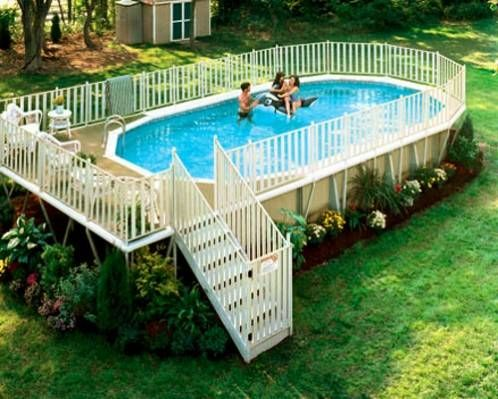 Above Ground Pool Landscaping | Above-Ground Swimming Pools - Photos of Above-Ground Swimming Pool ...