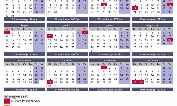 naptár nevekel MUNKAIDŐ NAPTÁR 2017 – DOLGOZÓK FIGYELEM! KIJÖTT A 2017 ES  naptár nevekel