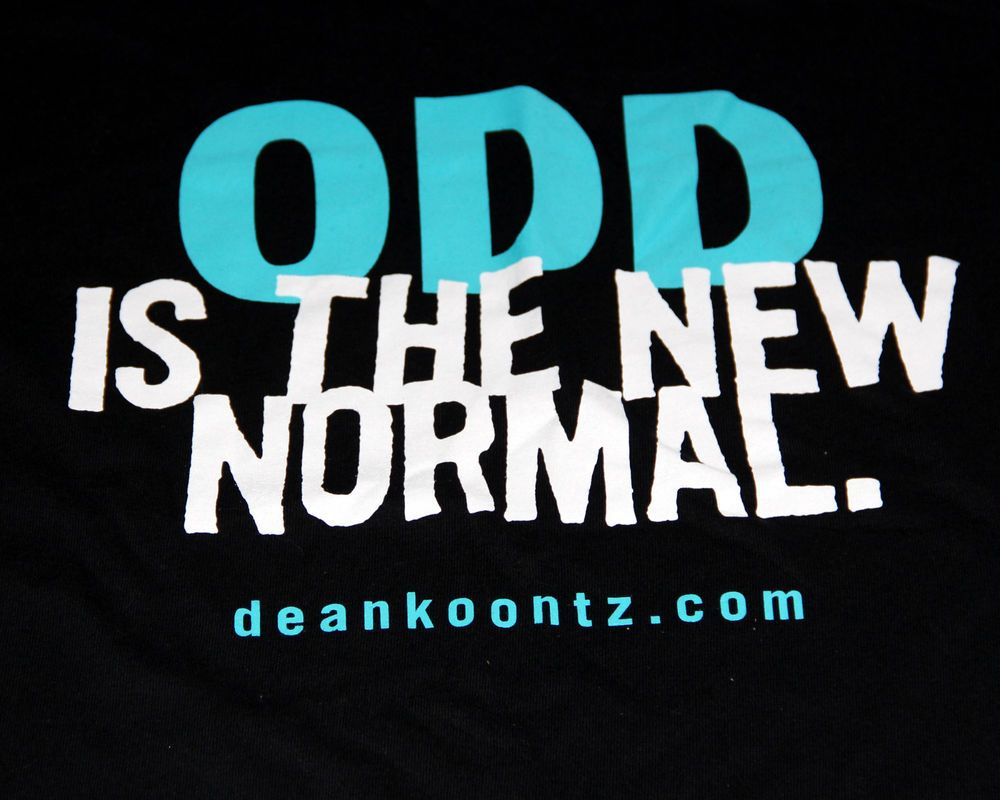 Odd Is The New Normal T Shirt Dean Koontz Odd Thomas Book Series Size Xl New