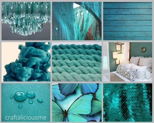 Colorful Moodboards {Getting a craft room Türkis, Türkis farbe - wohnzimmer deko in turkis