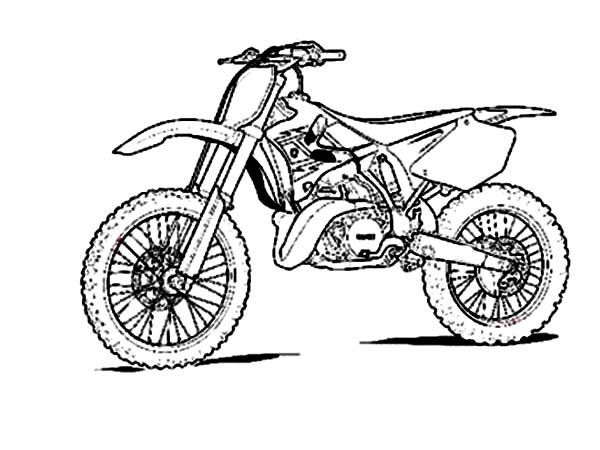 Dirt Bike, Sketch of Dirt Bike Coloring Page: Sketch Of