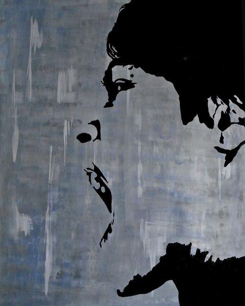 Chantal van Houten Source: saatchionline.com  #art #painting #portrait #black and white