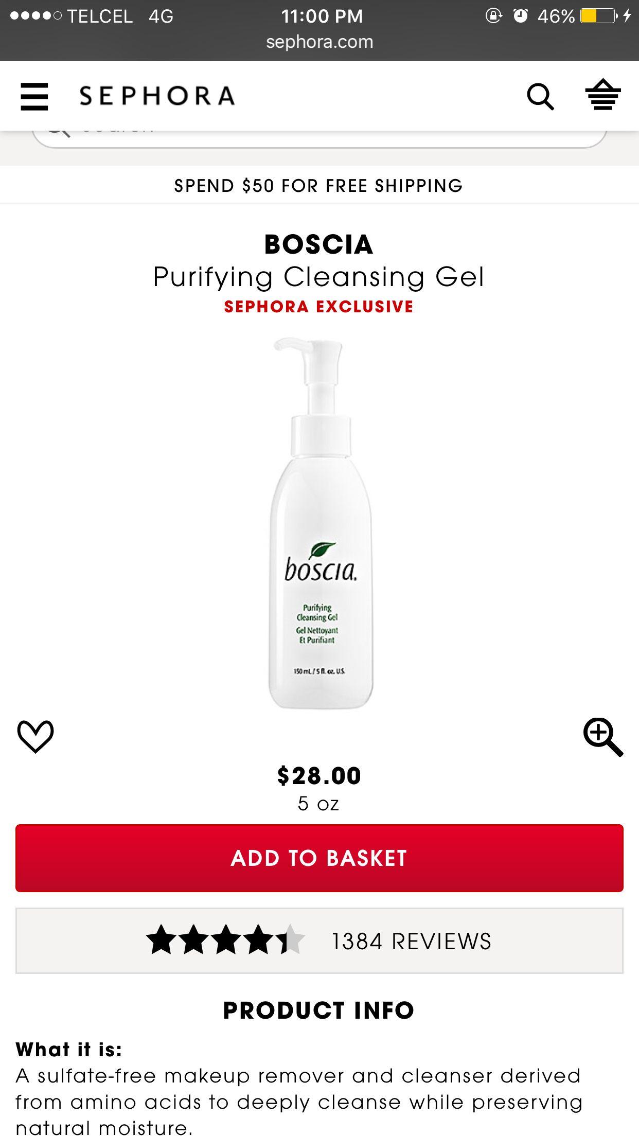 Best cleanser makeup remover. Boscia ❤️
