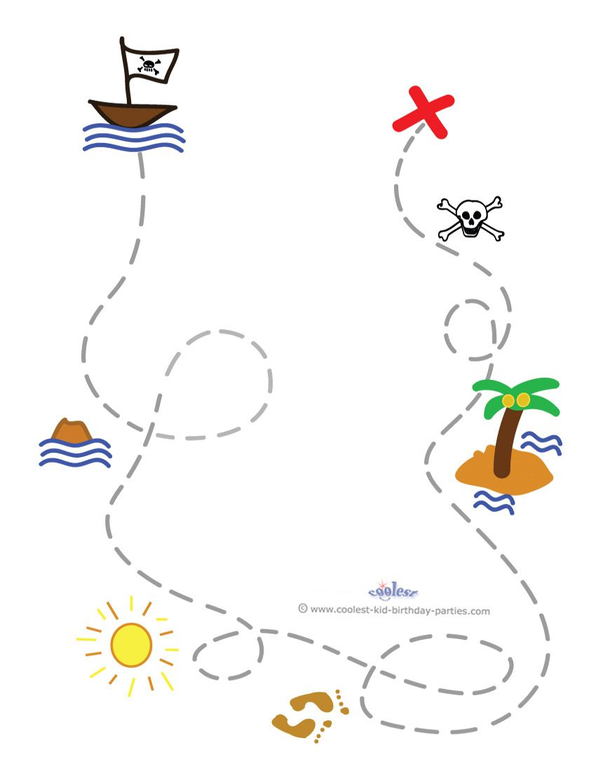 This is a graphic of Breathtaking Free Printable Treasure Map