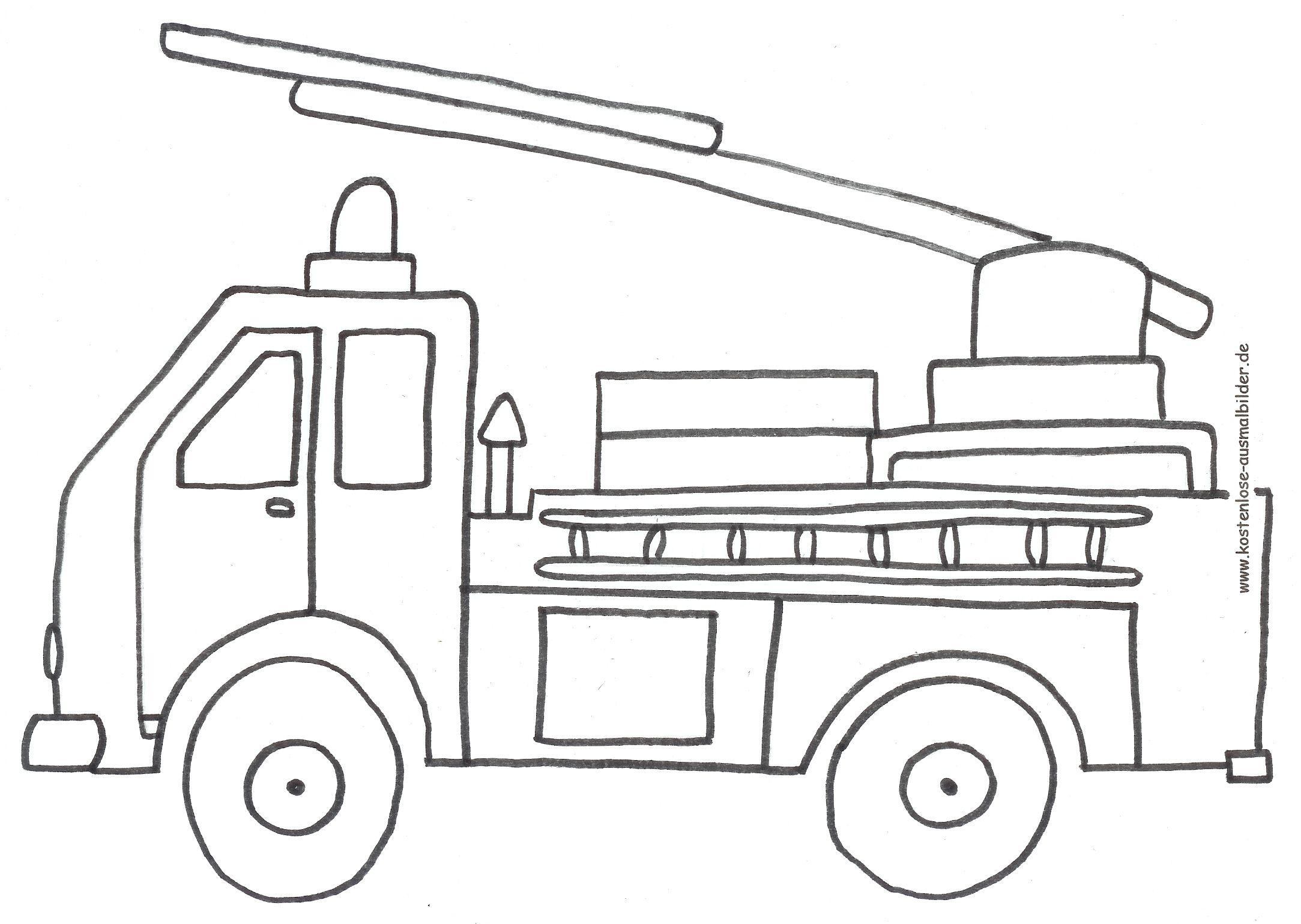 Ausmalbilder Feuerwehr Ausdrucken : Ausmalen Feuerwehr 04 Vatrogasac Pinterest Pre School And Free