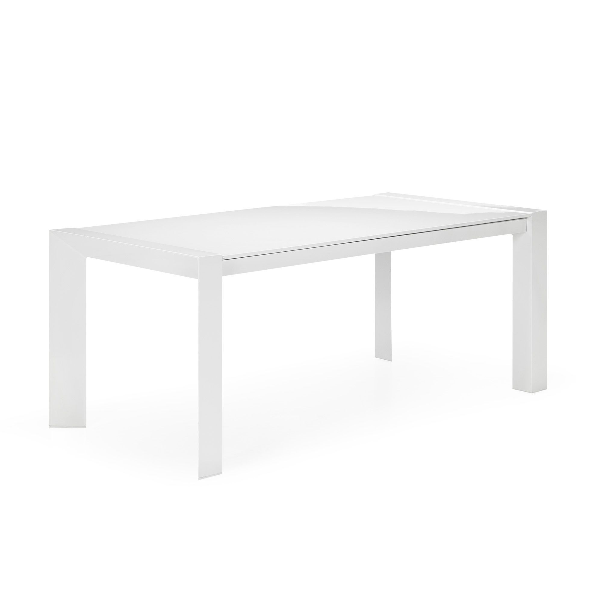 table avec allonges de 8 12 couverts blanc no mie. Black Bedroom Furniture Sets. Home Design Ideas