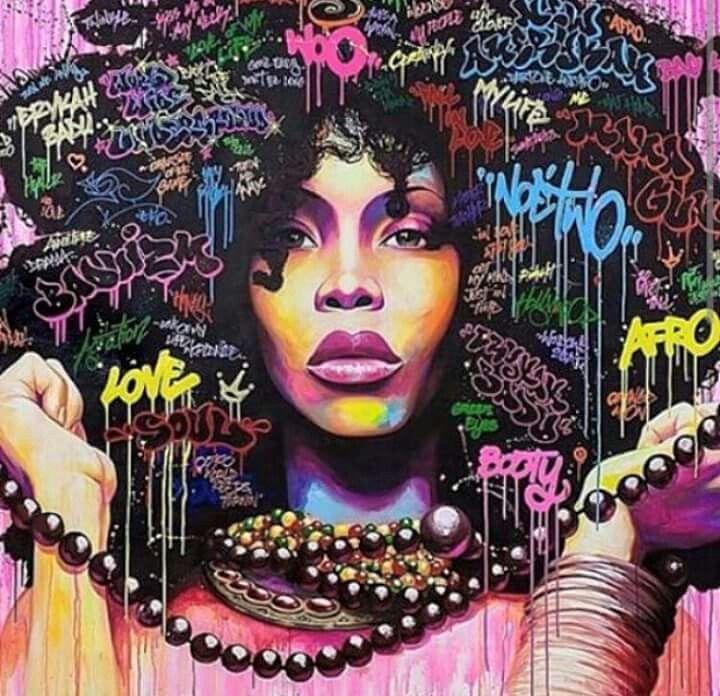 Erykah Badu Graffiti Afro Hair Tee TShirt