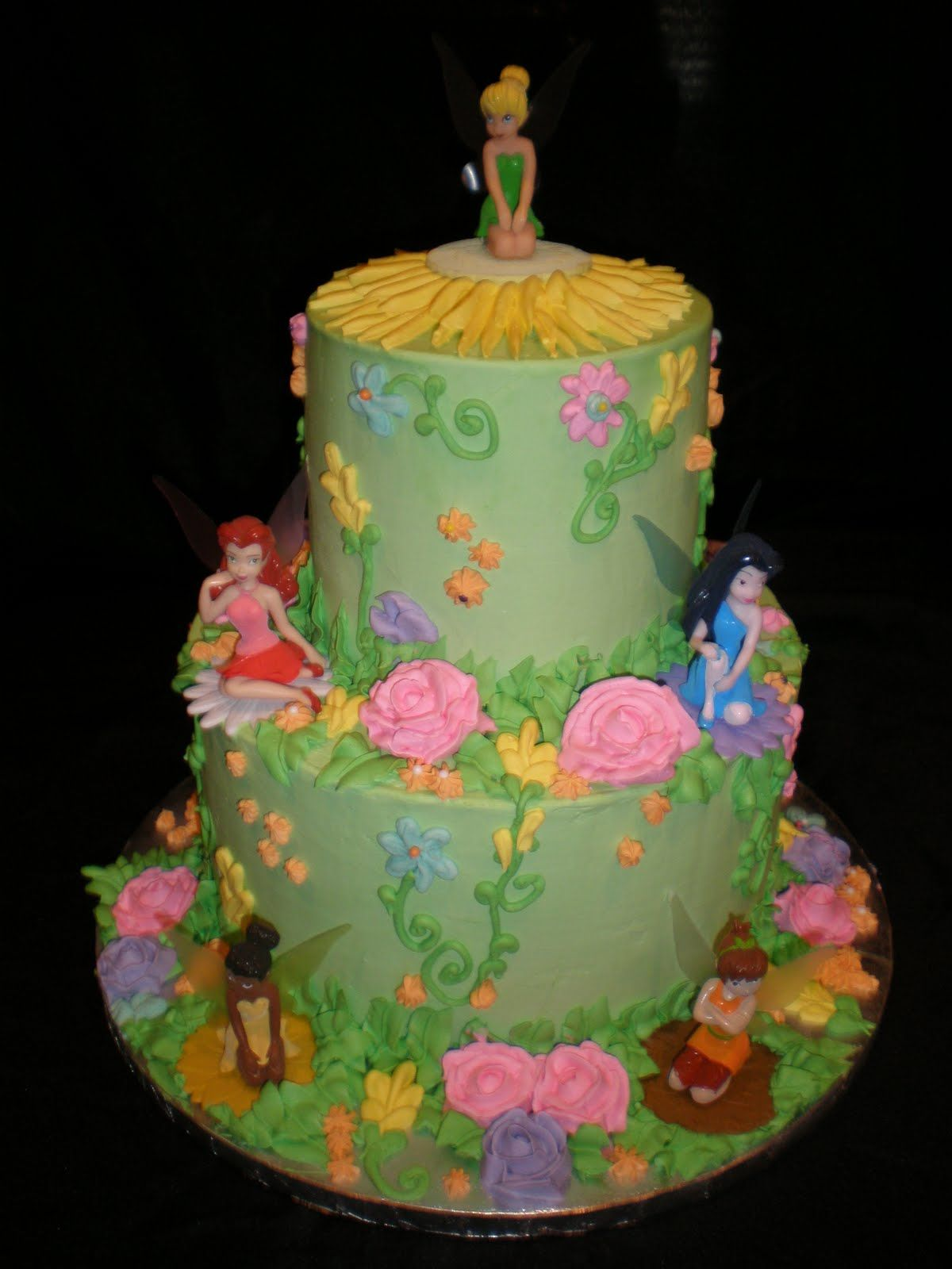 Fairy cakes by jennifer yeomans christy llc for Fairy garden birthday cake designs