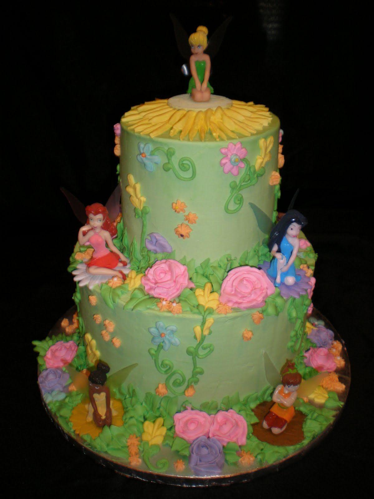 Fairy cakes by jennifer yeomans christy llc for Fairy garden birthday cake designs