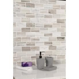 Avenzo Polished Brick Mosaic Marble Floor And Wall Tile Common X Actual At Lowes Skyline Is Made From A Very Unique Quarried The
