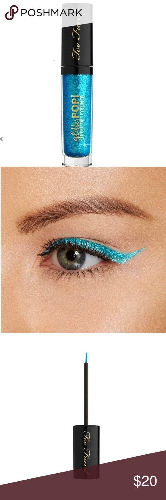 Faced Glitter Pop Peel-off Eyeliner Brand new. Liquid glitter eyeliner. Goof-proof application. Eas