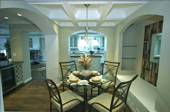 Breakfast room banquette in new home in Bethesda Md. http://www.ParamountConstruction.net