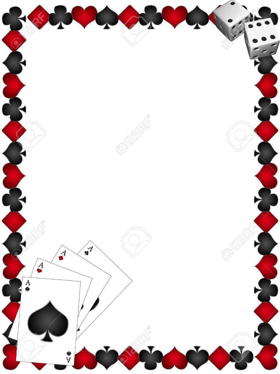 Deck Of Cards Photo Booth Picture Frame Template Buscar Con Google Den Rozhdeniya Prazdnik Produkty