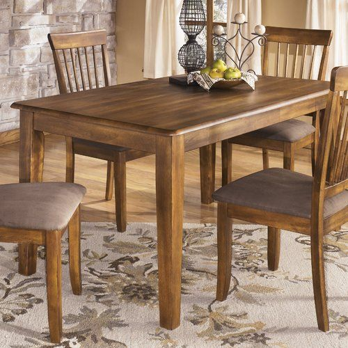 Loon Peak Kaiser Point Dining Table Rectangular Dining Room Table Kitchen Table Settings Rustic Kitchen Table Sets