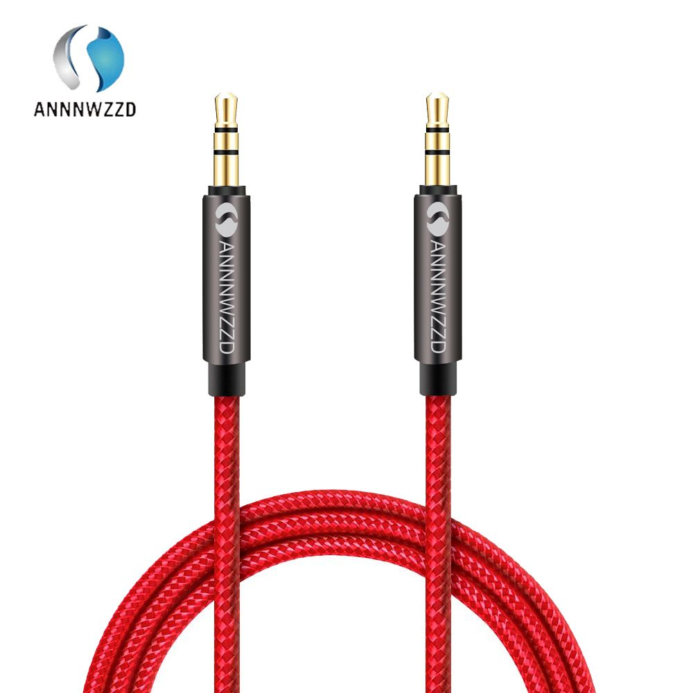 3.5mm Male-Male Stereo Jack Audio AUX Patch Cable Cord For Phone iPhone Top Cool