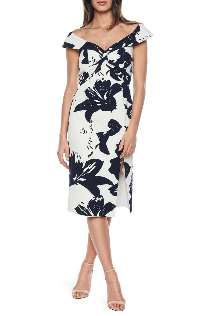 Bardot Botanica Off The Shoulder Dress Nordstrom Dresses Long Sleeve Mini Dress Short Black Cocktail Dress [ 1196 x 780 Pixel ]