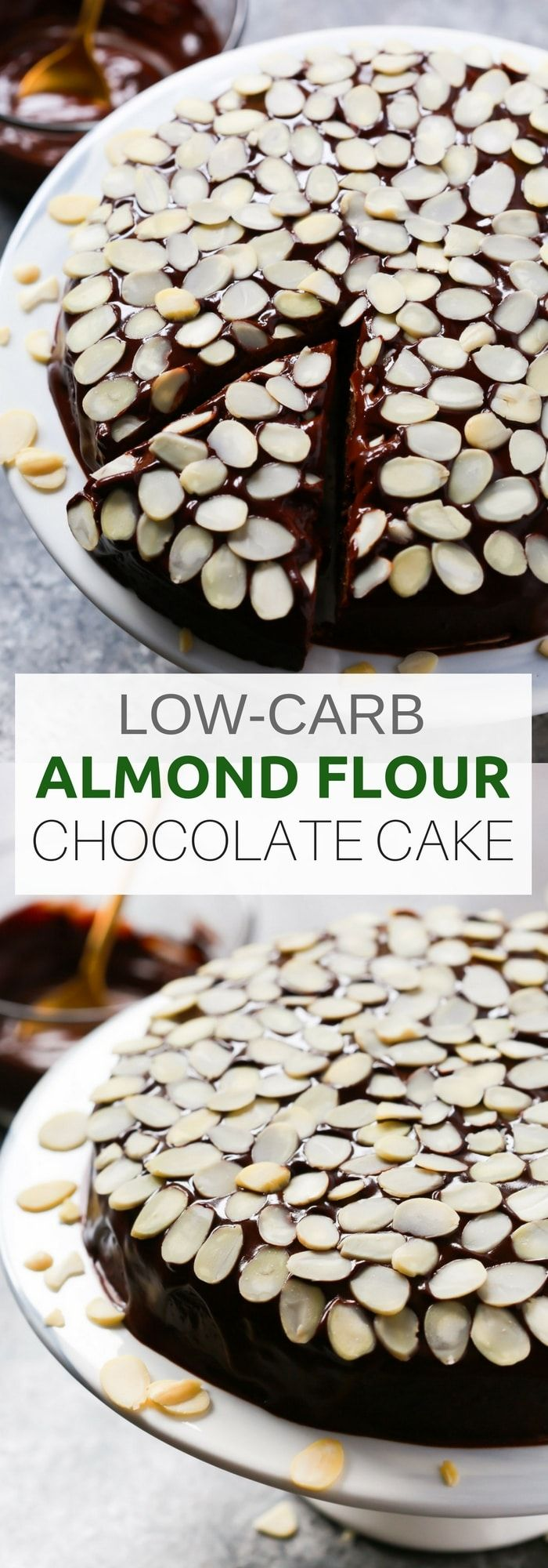 Healthier Low-carb Almond Flour Chocolate Cake for the ...