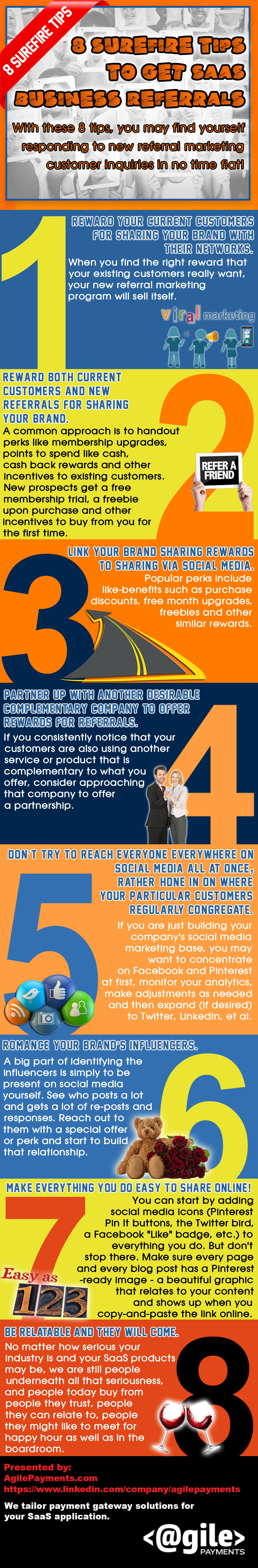What's the downside of using paid advertising to generate customers for your SaaS?Having to pay for the leads of course! Here's another quick question for you: How effective are you in generating good referrals from your customers?  If you're interested in learning how to get more referrals in your business check out this infographic we just created to help you get started. #infographic