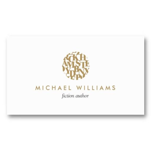 Modern letterform logo and business card template for authors shop modern letterform logo ii for authors and writers business card created by personalize it with photos text or purchase as is colourmoves