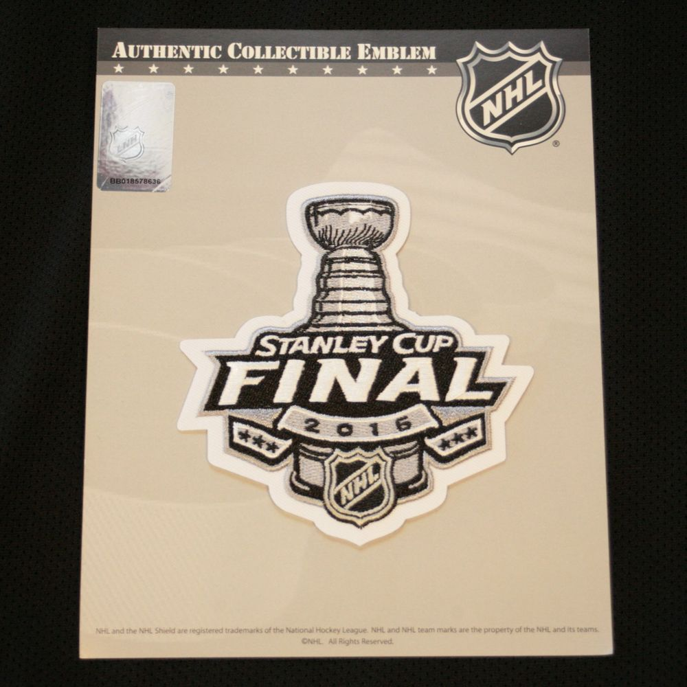 2016 NHL Stanley Cup Final Logo Black Home Jersey Patch Authentic   NationalEmblem  OfficialNHLTeam 45a699dc0