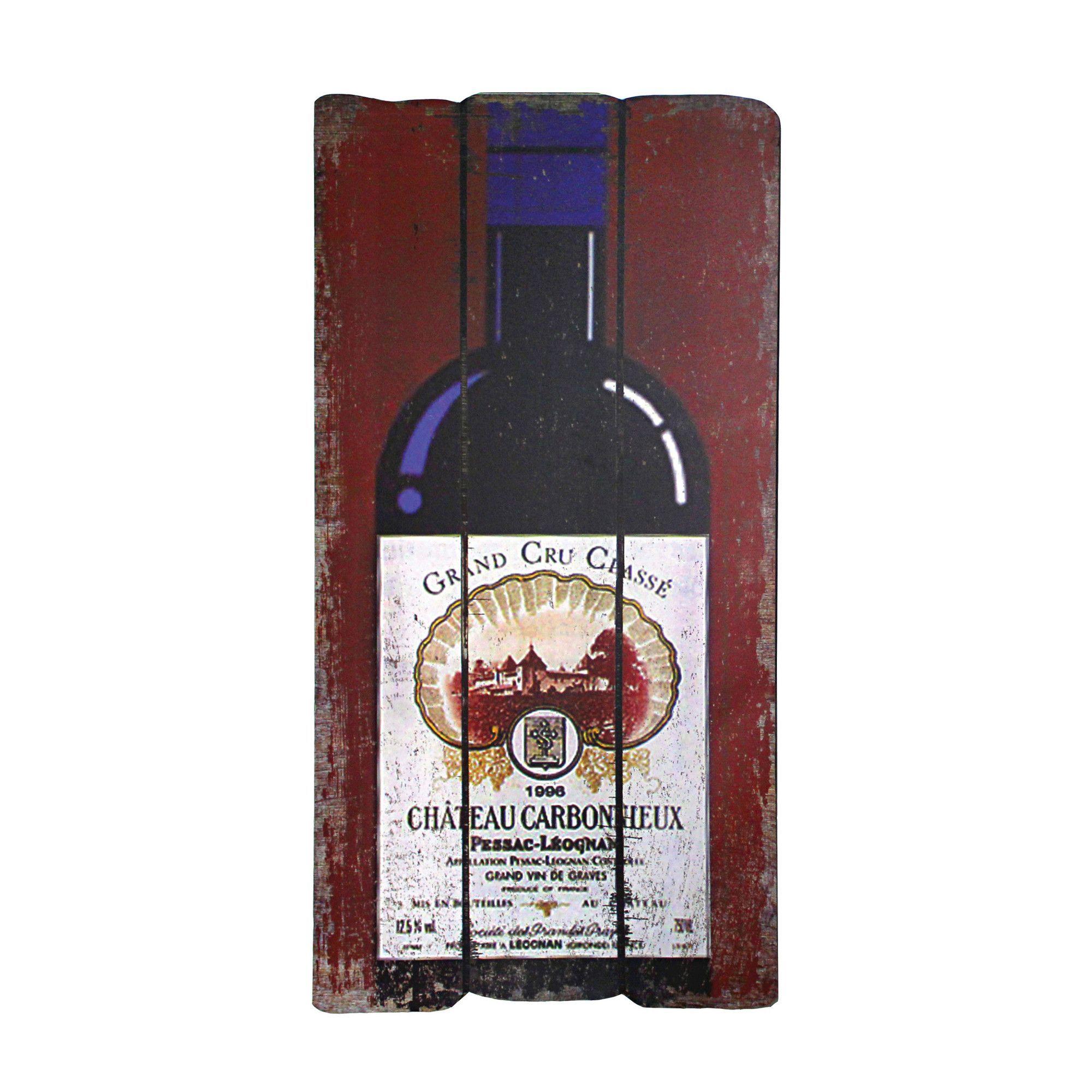 Bordeaux wine bottle plaque wall art products pinterest