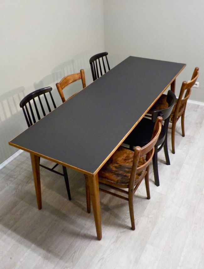 extravagant genial sch n und frisch aus der werkstatt esstisch aus den 50er jahren mit. Black Bedroom Furniture Sets. Home Design Ideas