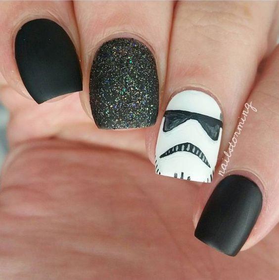 61 Super Cute Disney Nail Art Designs Pinterest Star Wars Nails