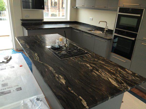 Rossi Stone On Twitter Black Granite Kitchen Countertops Granite Countertops Kitchen Black Granite Countertops