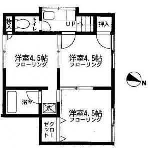 石黒アパート3Kの間取り図 | 間取り図鑑 | Pinterest