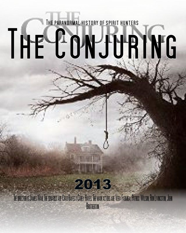 Conjuring : Les Dossiers Warren : conjuring, dossiers, warren, Star!, Customized, Movie, Poster.